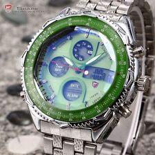 Eightgill Shark Mens Digital LCD Stainless Steel Date Day Sport Quartz Watch