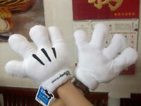 Disney Mickey Minnie Mouse Costume Party Cosplay Plush Gloves Gift for Kids