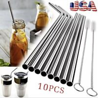 Reusable Stainless Steel Drinking 8 inch Straws Metal for 30 Oz Yeti Rtic Tumb