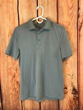 Lululemon Evolution Polo Shirt Ss Blue Chby Short Sleeve Sz S