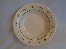 """Longaberger Pottery Set of 3 Classic Green Woven Traditions 8"""" Soup/Salad Bowls"""