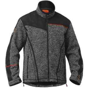 Halvarssons Lindstrands Coolly Motorcycle Windproof Wool Fleece Zipped Jacket