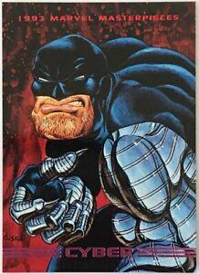 CYBER 1993 MARVEL MASTERPIECES GENUINE Comics Card 53