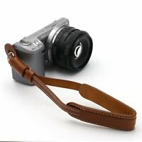 Brown New Pro Leather DSLR SLR Camera Wrist Strap Hand Grip For Universal JD073
