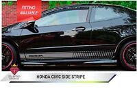 Honda Civic Side Stripe Decacls Graphics UK MADE Any Colour