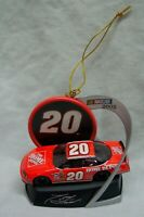 "TONY STEWART Nascar #20 RACE CAR 3"" CHRISTMAS TREE ORNAMENT 2005"