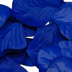 Royal Blue Rose Petals Fabric Confetti (164 Petals)