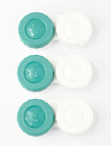 Contact Lens Cases Flat Design FDA Approved 3 Pieces For Contact Lens Solution