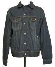 New Lee XL Denim Jacket Trucker Blue Jean Rigby Dark Wash 22021