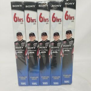 5 Count lot Sony VHS T-120 Standard Grade Ryan Newman Collectors Edition