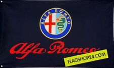 FREE SHIP TO USA Big NEW ALFA ROMEO BLACK FLAG BANNER SIGN 3X5 FEET MITO BRERA
