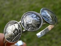 Cuff Bracelet Buffalo Indian Nickel coin various years available year nice gift