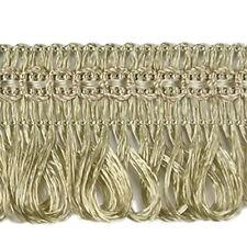 2m x Fransenborte 3 cm breit Altgold Gold Fransen Posamenten Spitzenborte Bänder