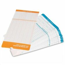 100x Monthly Time Clock Cards For Attendance Payroll Recorder Timecards Thermal