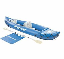 SEVYLOR Fiji 2-Person Inflatable 22 Gauge PVC Travel Pack Canoe Boat Raft Kayak