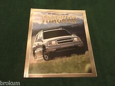 2001 CHEVY TRACKER ZR2 SALES BROCHURE MINT ORIGINAL W/ COLOR POSTER (R-53)