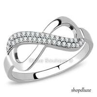 WOMEN'S STAINLESS STEEL INFINITY KNOT FRIENDSHIP LOVE PROMISE RING SIZE 5-10