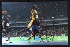 Usain Bolt signed 8x12 Color Photo JSA COA Olympics Gold Fastest Runner B199