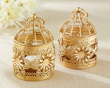 12 Gold Floral Lantern Lanterns Wedding Centerpiece Decorations Lot Q37347
