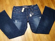 American Eagle Artist Flare Jeans Size 20 L Low Rise Power Fit Distressed NWT