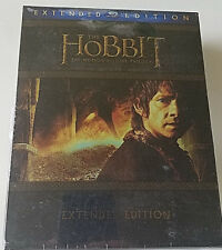 .The Hobbit Trilogy-(Blu-ray Disc, 2015, 9-Disc Set, Extended Edition),New!