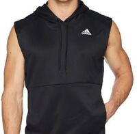 Men's Adidas Team Issue Lite Sleeveless Hoodie Black OR Blue/Dark Blue