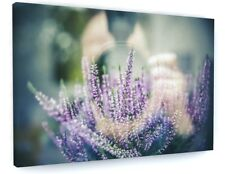 STUNNING FLORAL LAVENDER PHOTOGRAPHY CANVAS PICTURE PRINT WALL ART #4774