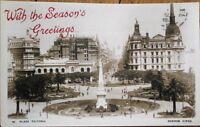 Buenos Aires, Argentina 1925 Realphoto Postcard: Plaza Victooria