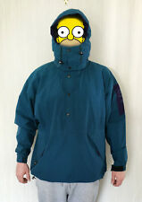 Men's The North Face Northface Stowaway Pullover Gore-Tex Hooded Jacket Teal XL