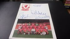 LIVERPOOL  SIGNED  TEAM  PICTURE 8X6 INCHES