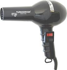 ETI Turbodryer 2000 Professional Hairdryer BLACK -- 2 Speed and 4 Heat Settings