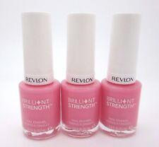 Revlon Nail Polish Pink Brilliant Strength Nail Enamel Enamor 040 Lot of 3