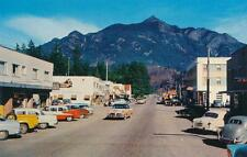 Photo. 1957-8. Hope, BC Canada. Wallace St - autos