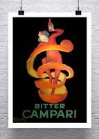 Bitter Campari Leonetto Cappiello Advertising Poster Canvas Giclee 24x32 in.