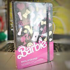 Genuine Moleskin Limited Edition Plain Notebook Barbie Printed Leather 14x9cm 💃