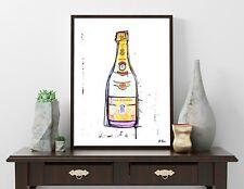 Cristal Champagne - Kunst Modern Art Rosé Brut Louis Roederer signiert Art Deco
