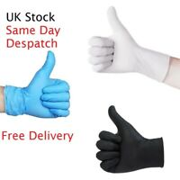 Nitrile Gloves Strong Disposable Food Medical Powder Free Blue White x50 x100