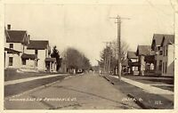 Delta Ohio~East on Providence Street~Big Homes~Dirt Road~1912 B&W Postcard