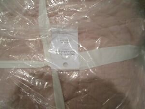 Pottery Barn Soft Rose Belgian Flax Linen Handcrafted Quilt Full Queen New