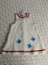 Kathe Kruse Doll Dress Only - No Doll - Ivory Red Blue Flowers Germany NEW NWT