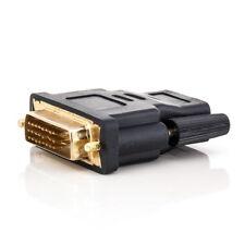 DVI auf HDMI Stecker Adapter 1080 HD TV Kabel Beamer PS3 XBox zu Monitor Gold -D