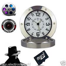 telecamera videosorveglianza con registrazione su micro SD orologio spia clock