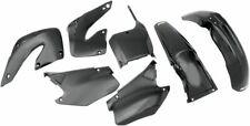 New Honda CR 125 250 00 01 2000 2001 All Black Plastic Kit Plastics Motocross