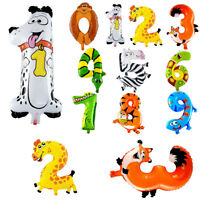 16'' Animal Style Numbers Foil Air Balloons For Birthday Party Child Kids Events