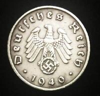 Rare WW2 German 5  Reichspfennig Coin Big Eagle WW2 Authentic Artifact