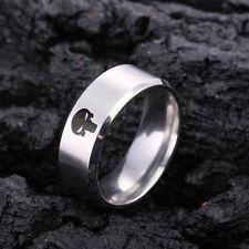 THE PUNISHER RING ~ Fashion Titanium Boys ~Mens SILVER PUNISHER Polished Ring F2