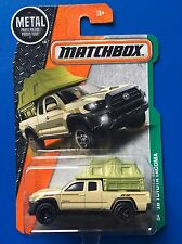 2017 Matchbox LONG CARD 2016 TOYOTA TACOMA CAMPER pick-up/utility mint on card!