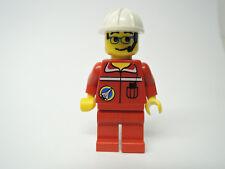 LEGO Figur Space Port Mann roter Anzug weißer Bauhelm spp009  Set  6456