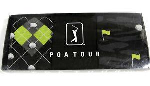 PGA TOUR Men's Dress Golf Socks Black Green Size 9-12- NEW- 3 pairs SET- $28-