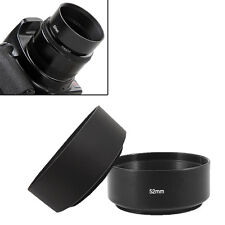 Screw Mount 52mm Standard Metal Lens Hood for Canon Nikon Pentax Sony Olympus X